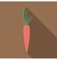 Fresh carrot icon flat style vector image