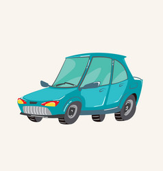 funny cute hand drawn cartoon vehicles bright vector image