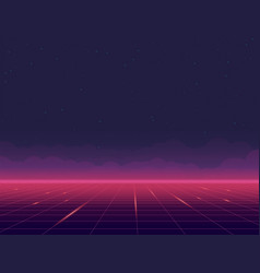 futuristic grid background and sky vector image