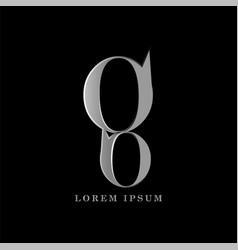 g letter logo template graphic design vector image