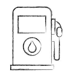 Gas station pump icon vector