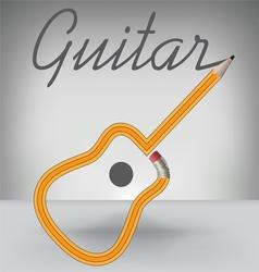 Guitar PENCIL vector