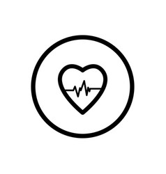 Heart line icon on a white background vector