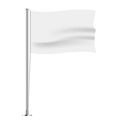 horizontal wavy flag vector image