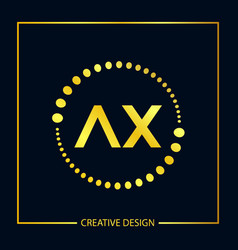 initial letter ax logo template design vector image