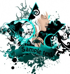 ink artwork vector image