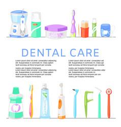 inscription dental care dentist background vector image