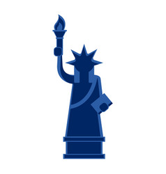 Isolated icon of the statue of liberty vector