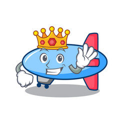 King zeppelin mascot cartoon style vector