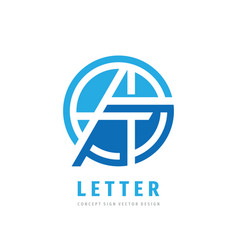 letter a - logo design abstract creative vector image