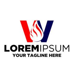 Letter w oil logo vector