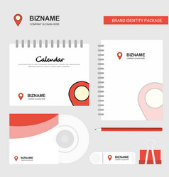 location logo calendar template cd cover diary vector image