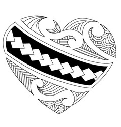 Maori heart vector