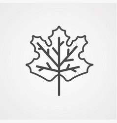 maple leaf icon sign symbol vector image