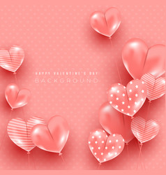 minimal light composition with heart shaped vector image