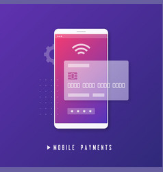 mobile payment online banking money transfer vector image