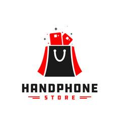 Mobile phone shop logo vector
