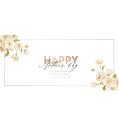 mother day modern banner spring holiday floral vector image