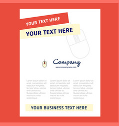 mouse title page design for company profile vector image