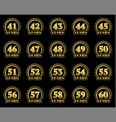 number award v2 en 41-60 vector image