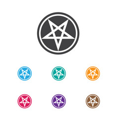 Of dyne symbol on pentagram vector