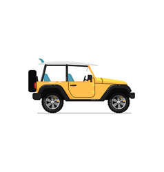 off road jeep isolated icon vector image