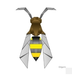 Origami paper wasp vector image