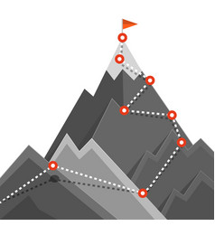 path to mountain top success jurney concept vector image