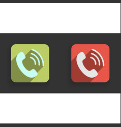 phone icon flat phone sign isolated vector image