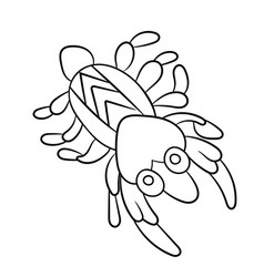 Plankton shrimp in coloring page for childrean vector