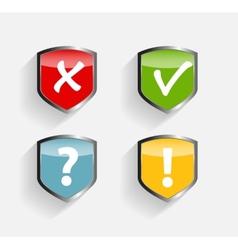 Protect Shield Set vector image