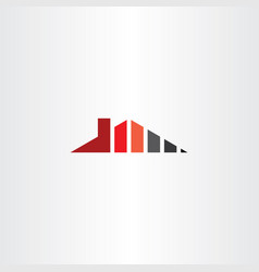 roof icon logo house home sign vector image