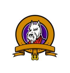 Scottish terrier belt loop mascot vector