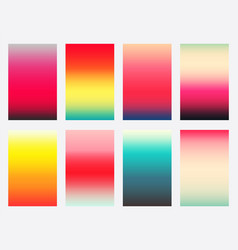 set colorful gradient covers template vector image