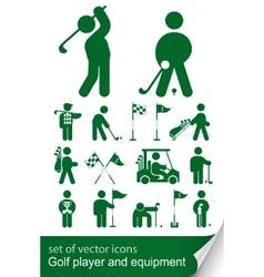 Set golf icon vector