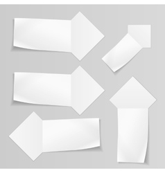 Set of banners Paper labels for your note text vector