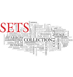 Sets word cloud concept vector