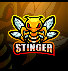 Stinger mascot esport logo design vector