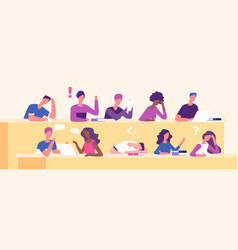 students at lecture lecture hall examination vector image