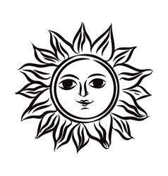 Symbol sun in ethnic russian style vector