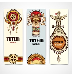 Tribal banners vertical vector image
