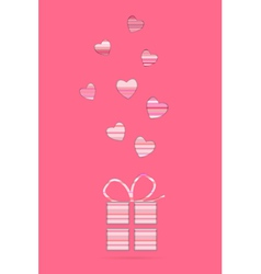 valentine card with present vector image