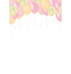 vertical pastel color pink green orange vector image