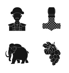 Winemaking travel and or web icon in black style vector