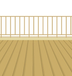 Wooden Balcony With Wooden Floor vector image