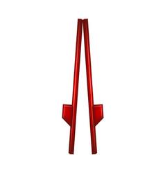 Wooden stilts in red design vector