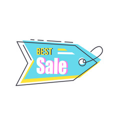 best sale arrow shape hanging sticker with lace vector image