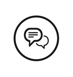chat icon on a white background vector image
