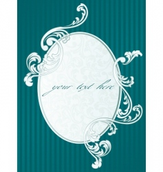 French retro frame in green vector image vector image