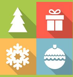 set of christmas icon vector image vector image